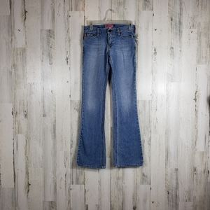 Hollister stretch boot cut light wash jeans size 3